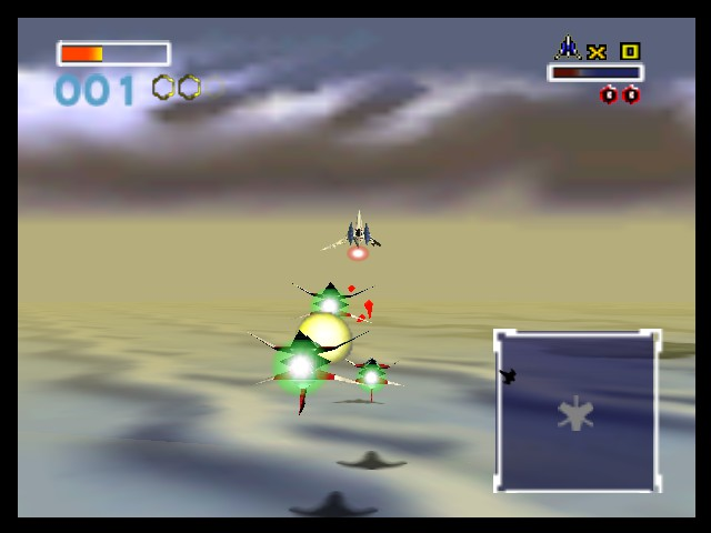 Star Fox 64 - All alone against 3 of Star Wolf - User Screenshot